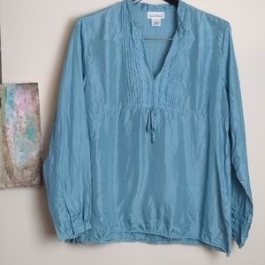 Travelsmith Silk Blouse Size L